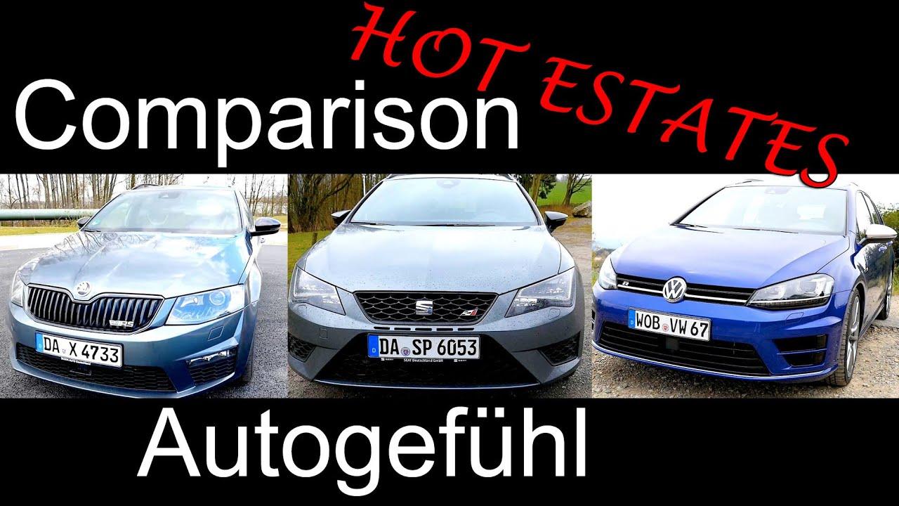 hot estate comparison test volkswagen vw golf r variant vs. Black Bedroom Furniture Sets. Home Design Ideas