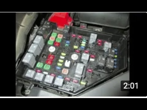 FUSE BOX Relay LOCATION Chevy Traverse 2009 2010 2011 2012