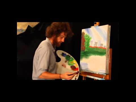 Rob Boss Episode 01 Full Episode Bob Ross Joy of Painting Instructional Imitation