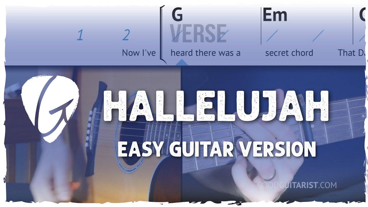 Hallelujah Easy Guitar Tutorial No Barre Chords Leonard Cohen