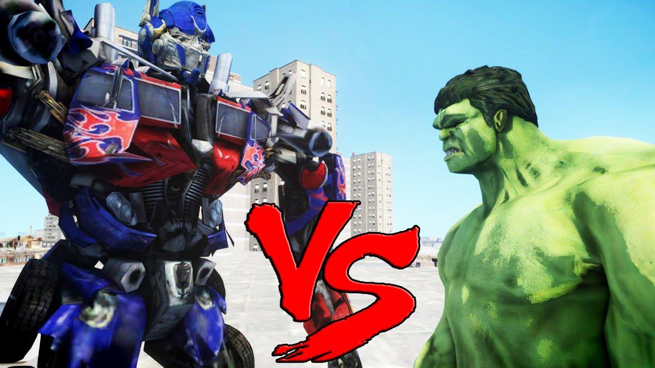 THE INCREDIBLE HULK VS OPTIMUS PRIME Transformers YouTube