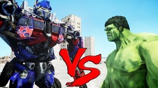 Video THE INCREDIBLE HULK VS OPTIMUS PRIME (Transformers) download MP3, 3GP, MP4, WEBM, AVI, FLV September 2018