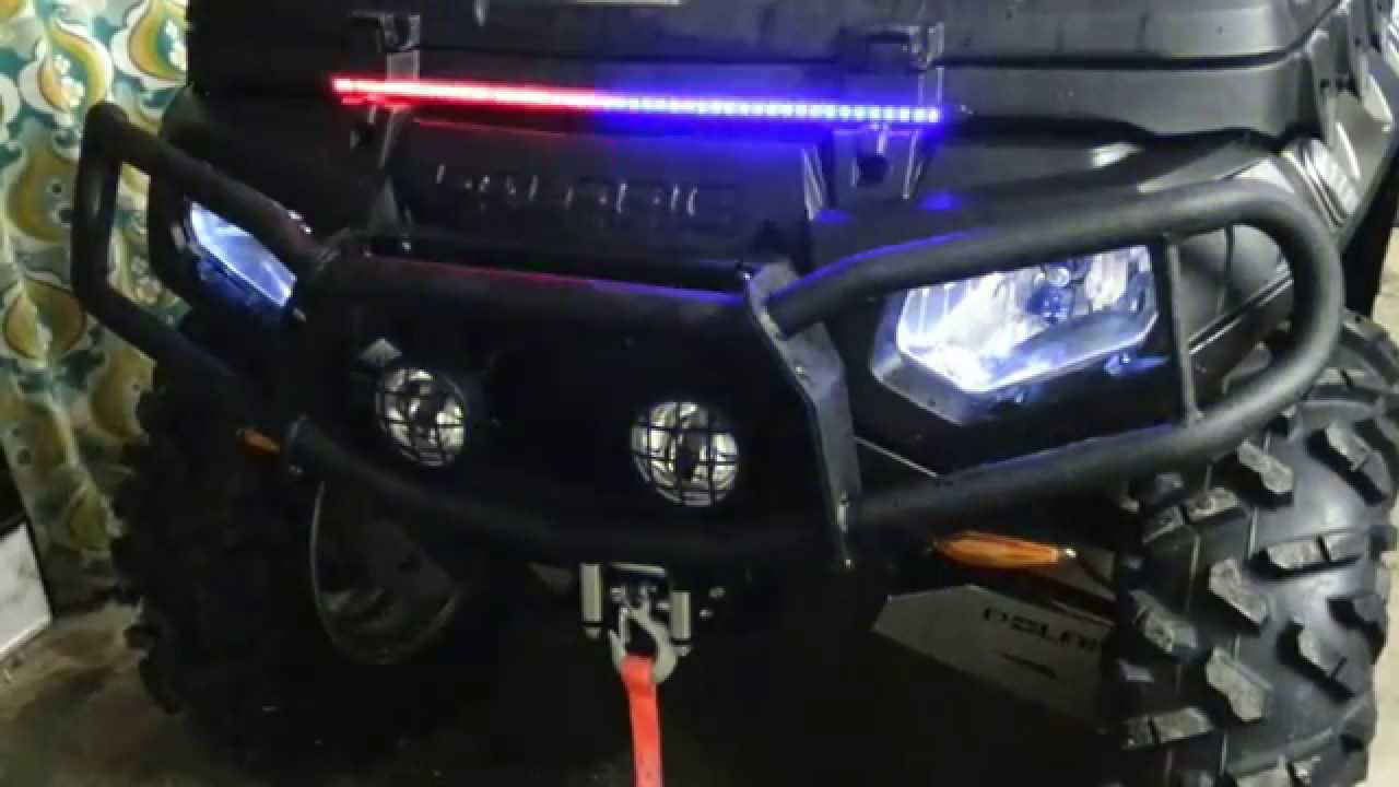 Polaris 850 Eps Led Flashing Light Youtube