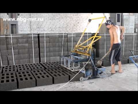 Производство в домашних условиях строительных блоков