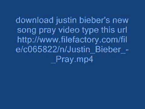 Download justin bieber's pray video song