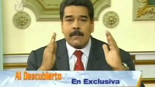 Entrevista de Venevisión a Nicolás Maduro este 13/04/14