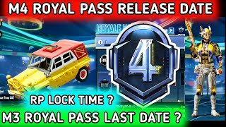 M4 ROYAL PASS RELEASE DATE & TIME 🔥 BGMI M4 ROYAL PASS 🔥 M3 ROYAL PASS RP LOCK TIME & TIER RESET ?