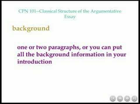 cpn classical structure of the argumentative essay