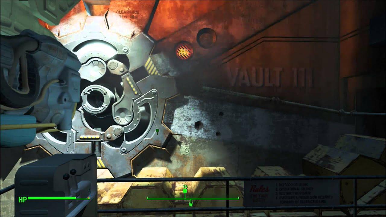 Fallout Vault Door fallout 4 open vault door get out of vault 111 - youtube