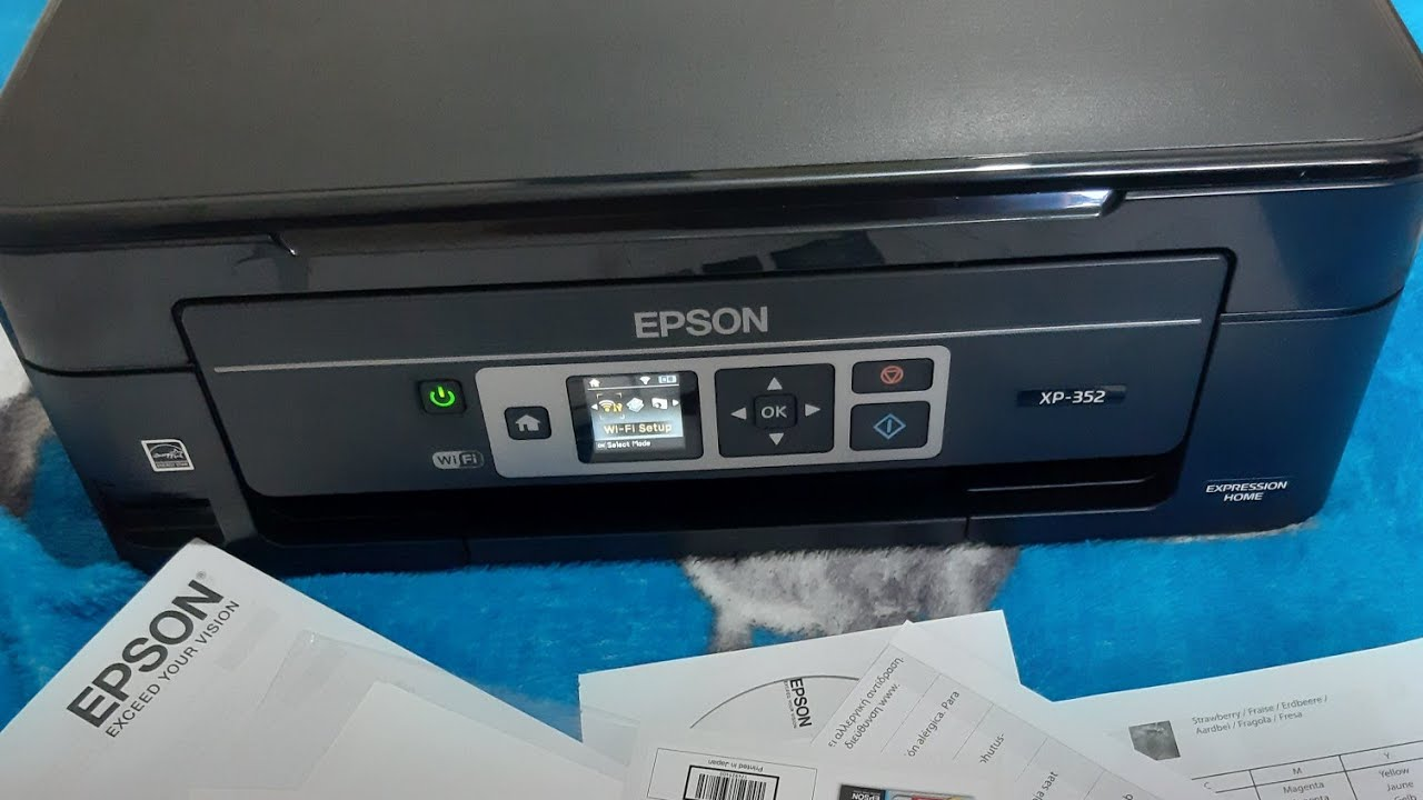 Epson xp-352 unboxing, new setup and review - YouTube