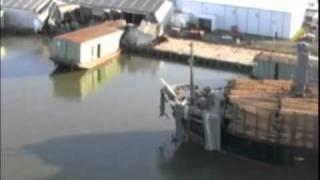 Coast Guard footage of cargo ship impact aftermath