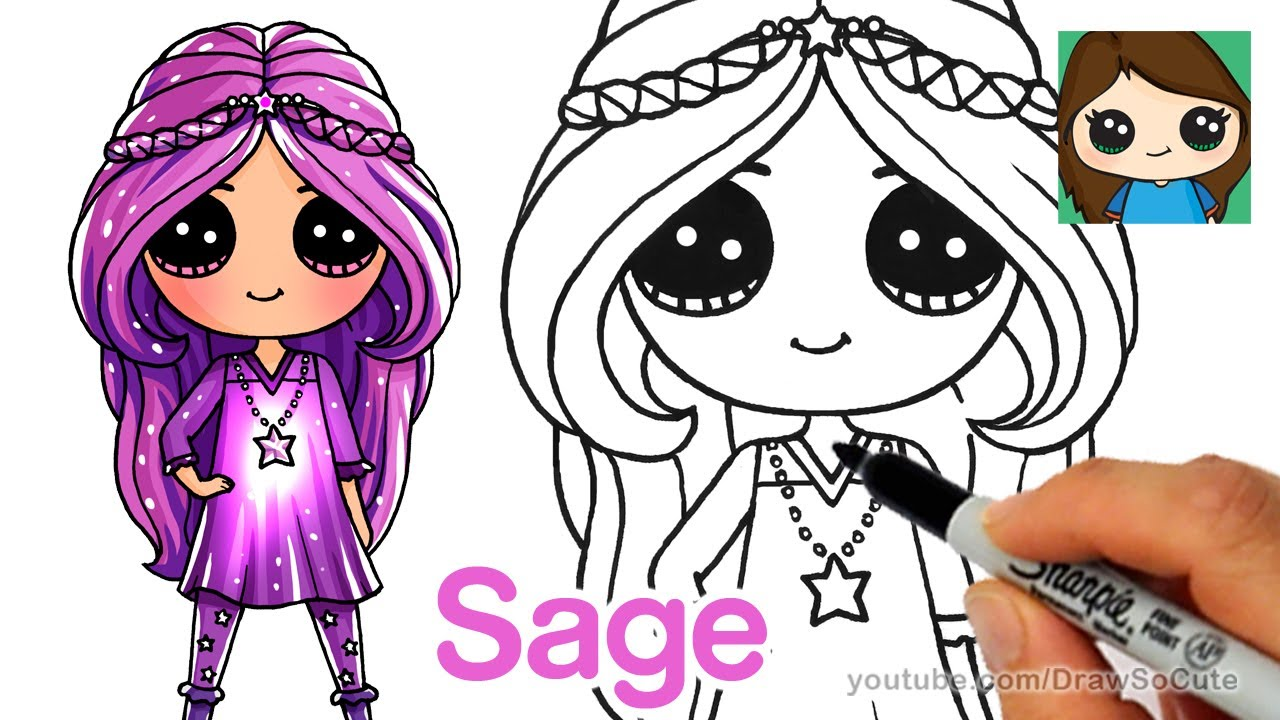 How to Draw Sage | Disney Star Darlings - YouTube