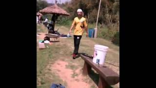 Equipe tambativa no pesqueiro taquari