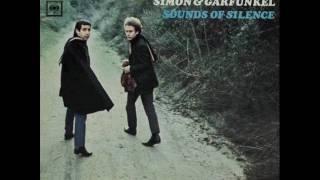 Simon & Garfunkel - Sounds Of Silence (Lyrics)