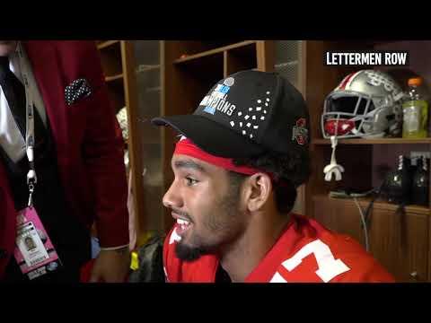 Chris Olave: Ohio State wide receiver talks Buckeyes win over Northwestern to win the Big Ten