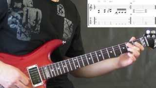 Sepultura - Slave New World (with Solo) - Guitar Lesson (TABS)