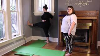 Curvy Yoga - Extended Hand to Big Toe