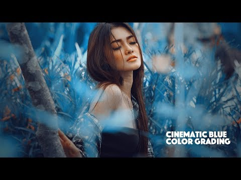 Cinematic Soft Blue Color Grading Photoshop Tutorial