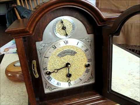 Rare Large Warmink Westminster With Date 8 Day Nut Wood Bracket Clock For Sale On EBay UK