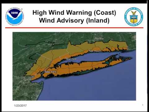 The National Weather Service issued this latest update on the Nor'easter in this video released Monday evening.