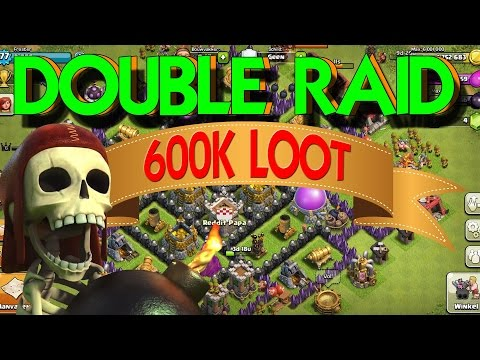 600,000 worth in loot!!!!! CLASH OF CLANS