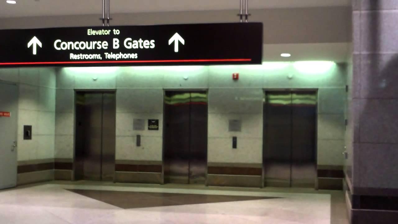 Montgomery Kone Traction Elevators At Concourse B Denver