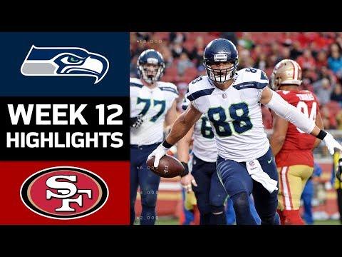 Seahawks vs. 49ers   NFL Week 12 Game Highlights