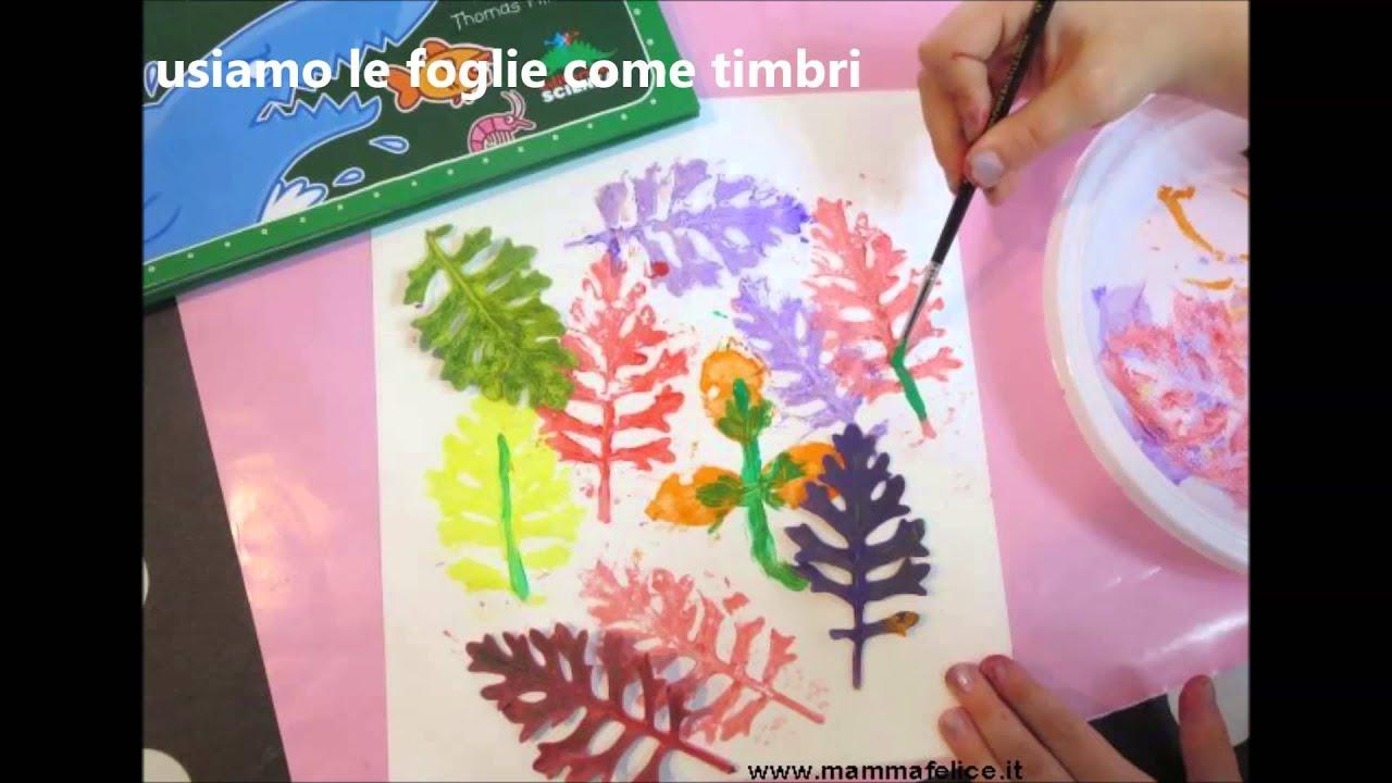 Lavoretti per bambini con fiori e foglie mammafelice for Altalena con scivolo per bambini
