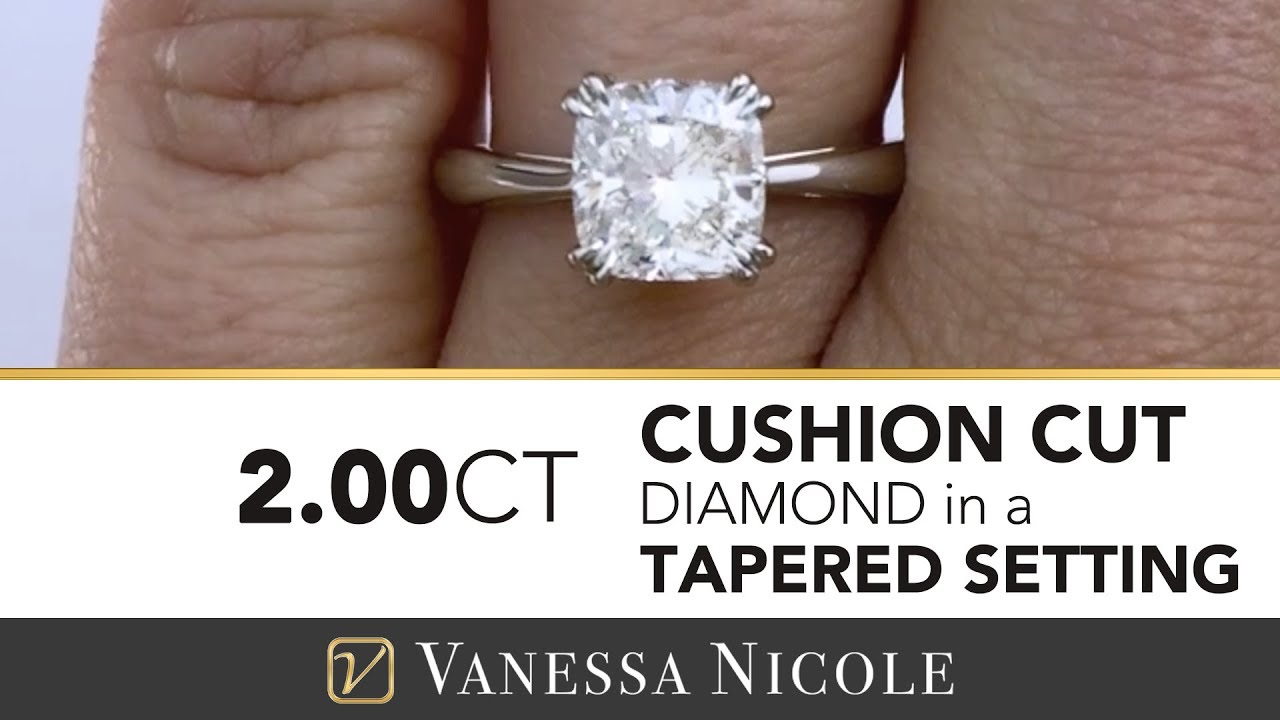 2ct cushion cut solitaire ring ivettes 2ct cushion cut