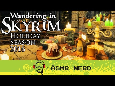 ASMR Whisper   Wandering in Skyrim - Holiday Season 2016