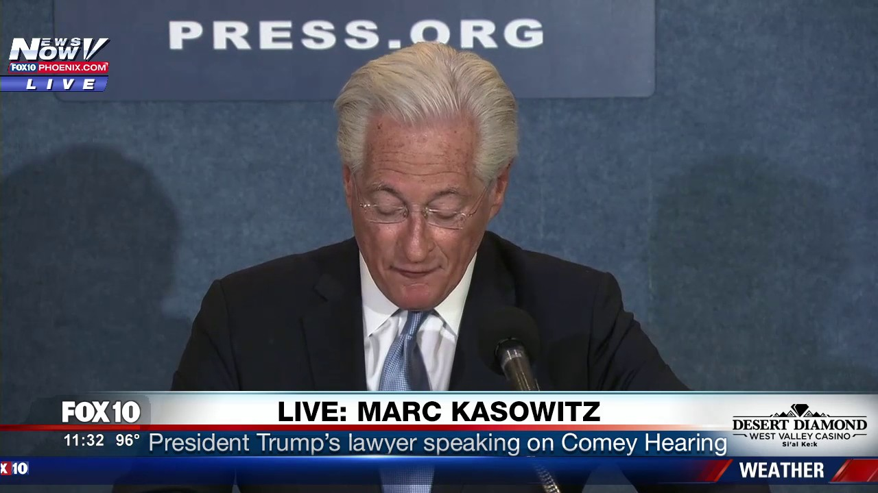 Trump Lawyer Responds to Comey Hearing: 'President Feels Completely