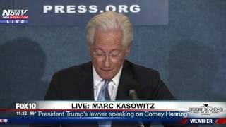 FULL: Trump's Lawyer Marc Kasowitz Press Conference - Responds to James Comey Hearing (FNN)