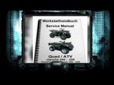 Werkstatthandbuch, Reparaturanleitung Jianshe, Puma, Yamaha Bear Tracker, JS 225 - 250 - 300