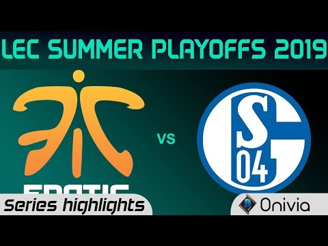 FNC vs S04 Highlights All Games LEC Summer 2019 Playoffs Fnatic vs FC Schalke04 LEC Highlights By On