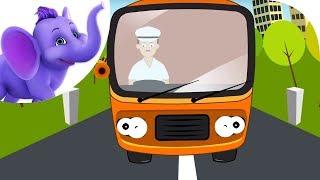 Repeat youtube video Wheels On The Bus - Nursery Rhyme (HD)
