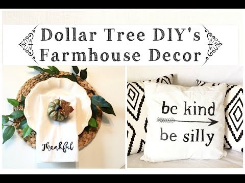 Dollar Tree DIY's Farmhouse Decor Napkins and Pillows