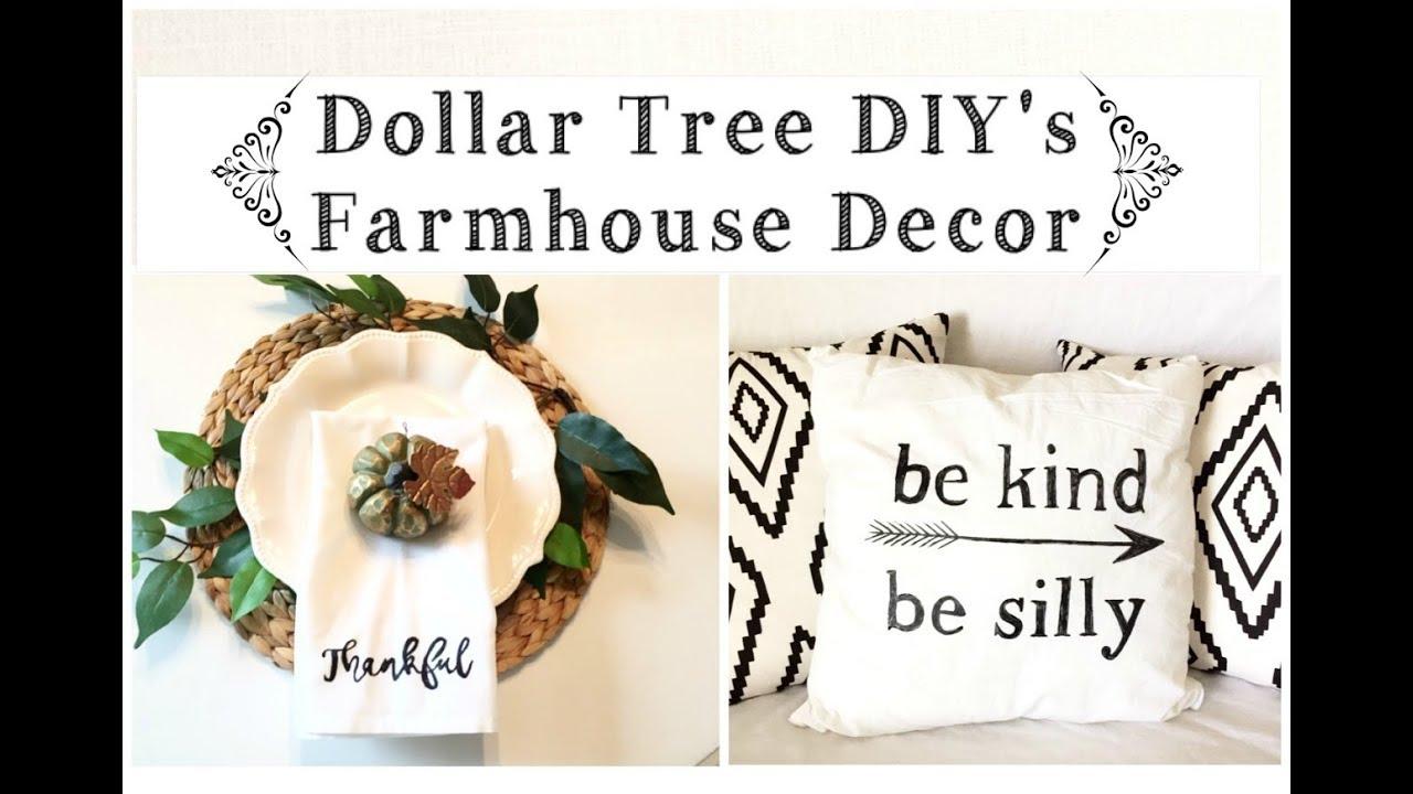 Dollar Tree Diy S Farmhouse Decor Napkins And Pillows