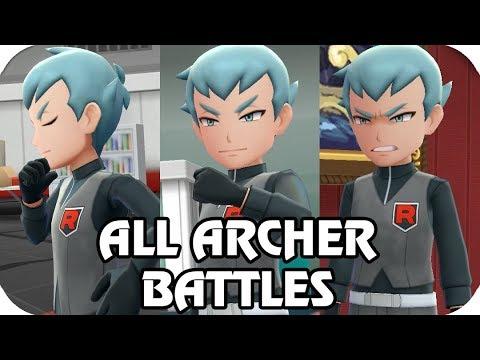 Pokémon Let's Go Pikachu & Eevee : All Admin Archer Battle (1080p60) |
