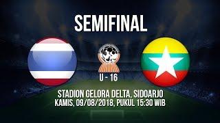 Jadwal Live Semifinal AFF U-16 2018 - Thailand VS Myanmar, Pukul 15.30 WIB