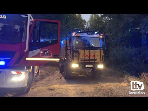 VÍDEO: Efectivos del Parque de Bomberos e INFOCA sofocan un incendio en la zona de El Cascajar
