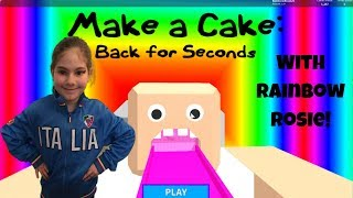 I Turned Myself Into A Rainbow Cake In ROBLOX Make A Cake!