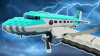LIGHTNING CAUSES PLANE FAILURE! - Stormworks Multiplayer Gameplay - Tsunami & Lightning Survival