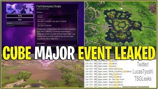 *NEW* Fortnite: CUBE EVENT LEAKED! (Loot Lake Drained/Replaced, NEW POI, Event Length & More!)