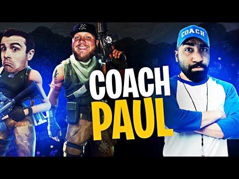 COACH PAUL!! (ft. DrLupo & Actjaxon) | Fortnite Battle Royale Highlights #191
