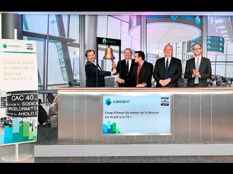 Paris Stock Exchange is back on TV
