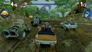 Beach buggy racing game ! race in dino jungle water ! child racing games ! race 10