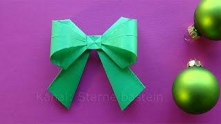 Origami Weihnachten Basteln Ideen: Schleife falten - DIY zum Geschenke einpacken. Weihnachtsschmuck
