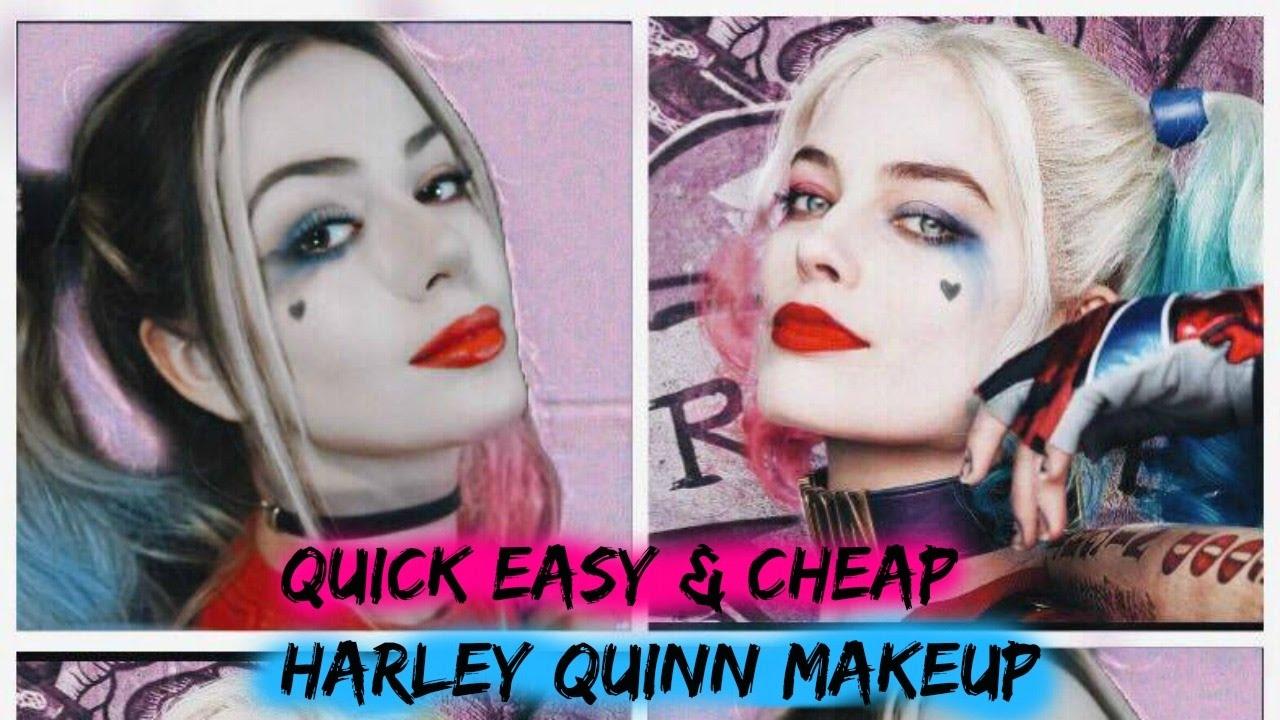 Quick, Easy \u0026 Cheap Harley Quinn Makeup Tutorial