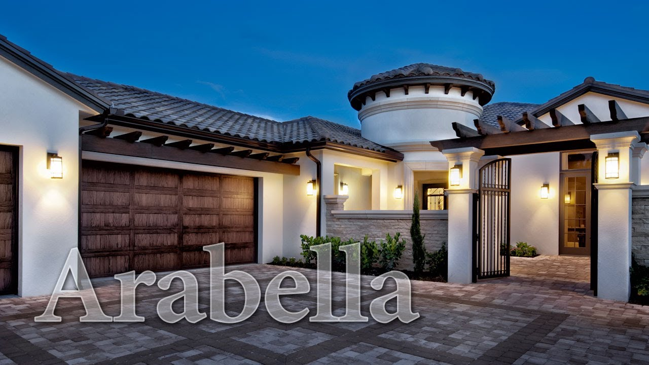 Arabella an old world tuscan styled home youtube for Small tuscan style house plans