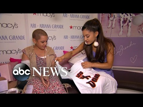 Ariana Grande Grants Wish of Girl With Cancer